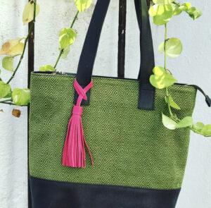 Handmade leather artisan bag
